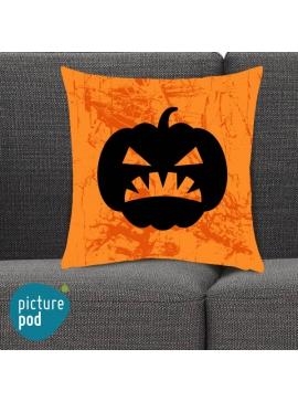 Halloween Pumpkin Shrewd Orange Cushion