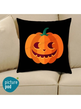 Halloween Pumpkin Wicked Smile Cushion