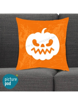 Halloween Pumpkin Ziggy Orange Cushion