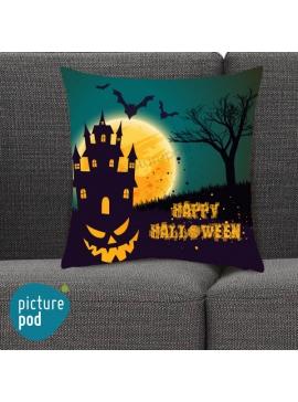 Happy Halloween Castle Cushion
