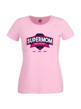 SuperMom Great Mother Customized T-Shirt