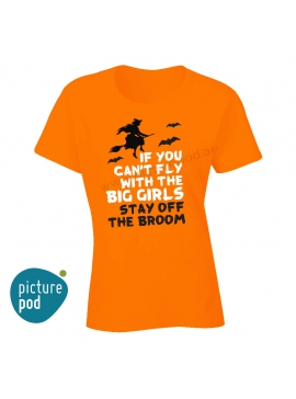 Womens Tee Fly or Stay off Orange