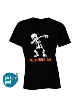 Womens Tee Hallo-Queen Dab Black
