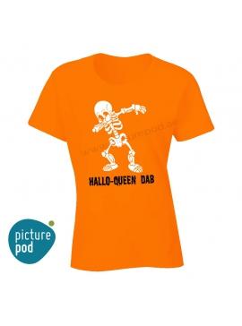 Womens Tee Hallo-Queen Dab Orange