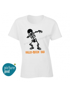 Womens Tee Hallo-Queen Dab White