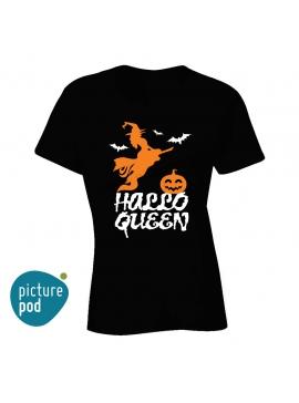 Womens Tee Hallo Queen Black