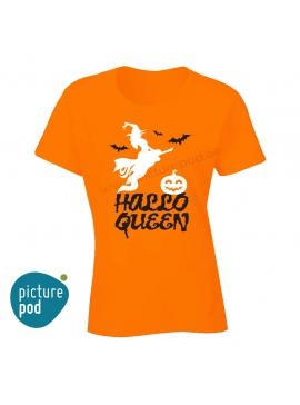 Womens Tee Hallo Queen Orange