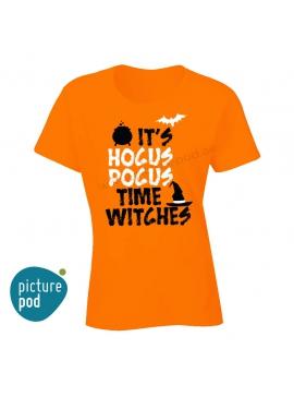 Womens Tee Hocus Pocus Orange