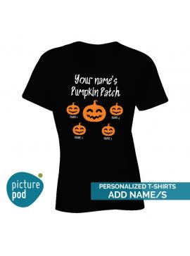 Womens Tee Pumpkin Patch Black