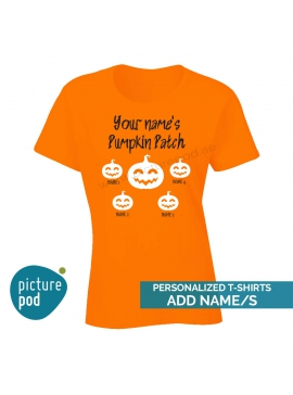 Womens Tee Pumpkin Patch Orange