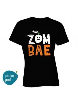 Womens Tee Zom Bae Black