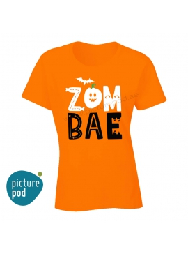 Womens Tee Zom Bae Orange