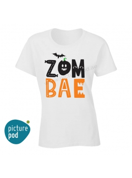 Womens Tee Zom Bae White